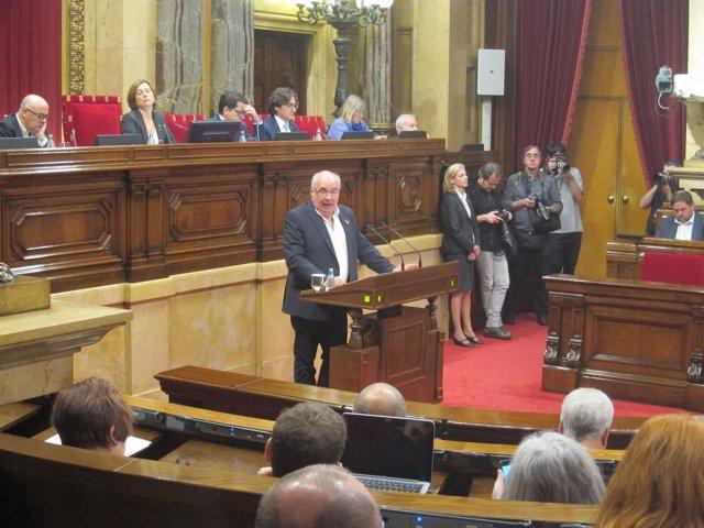 Lluís Rabell, en el Parlament
