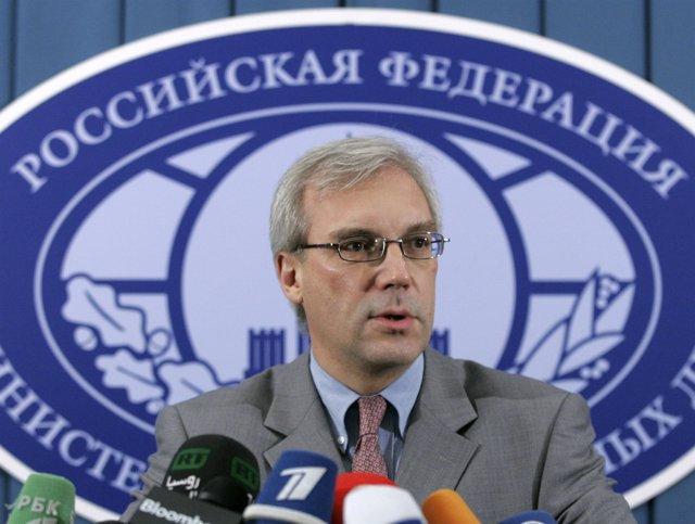 El embajador de Rusia ante la OTAN, Alexander Grushko