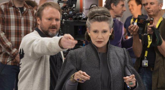 Rian Johnson dirige a Carrie Fisher en Star Wars: Los últimos Jedi