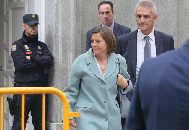 Forcadell sale del Tribunal Supremo