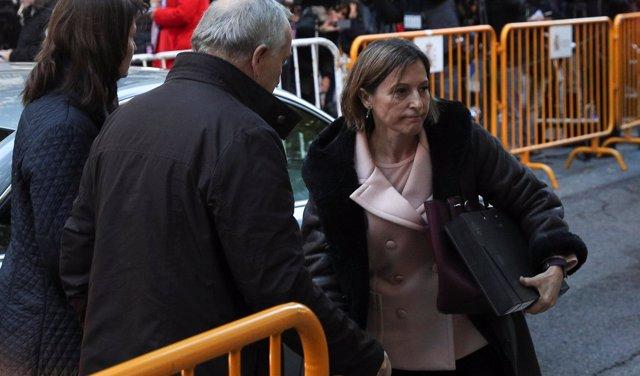 Carme Forcadell a su llegada al Tribunal Supremo