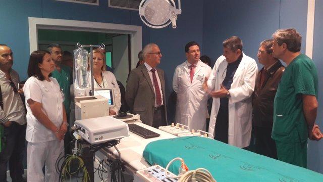 Sala de electrofisiología del Puerta del Mar