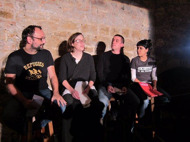 Benet Salellas, Eulàlia Reguant, Quim Arrufat y Anna Gabriel, CUP