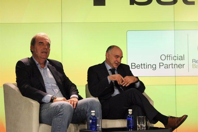 Juan Carlos Sánchez y Pablo Laso (Real Madrid)