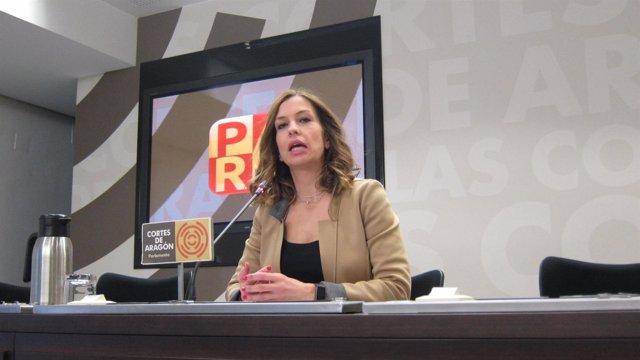 La portavoz adjunta del PAR en las Cortes de Aragón, María Herrero