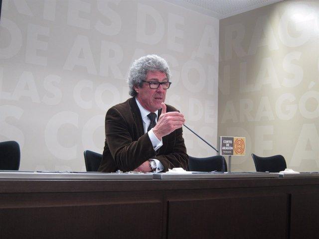 El diputado de CHA en las Cortes de Aragón, Gregorio Briz