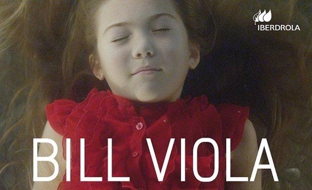Cartel de la exposición retrospetiva de Bill Viola