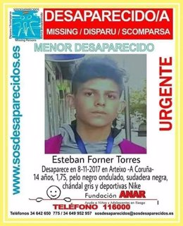 Menor desaparecido en Arteixo (A Coruña)