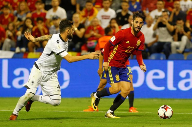 Isco con la selección española ante Albania
