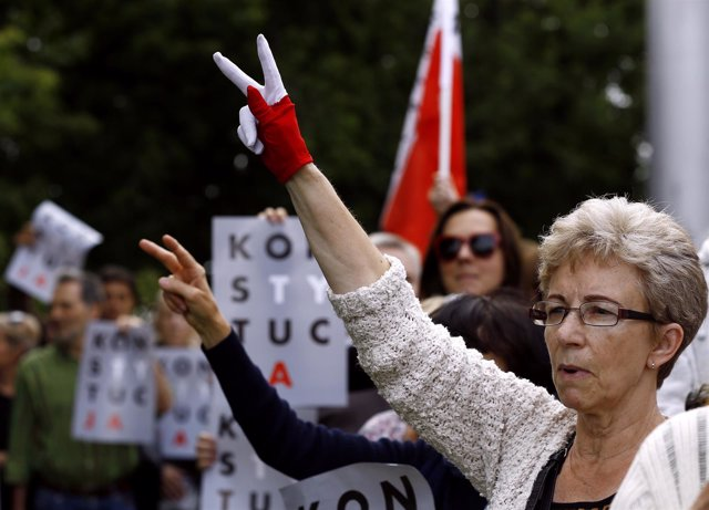 Protesta contra la reforma judicial en Polonia