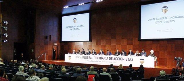 Junta General Ordinaria de accionistas del Valencia CF
