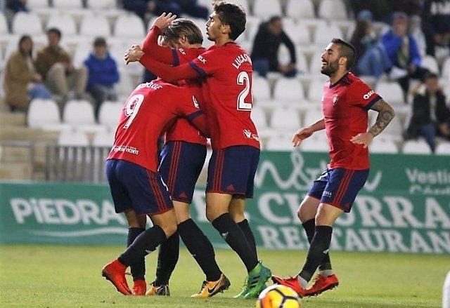 Osasuna se pone líder provisional en la Liga 123