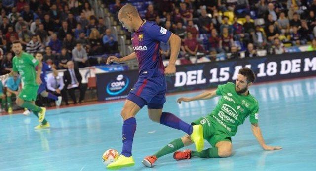 Ferrao, del Barça Lassa, ante Osasuna Magna en la LNFS