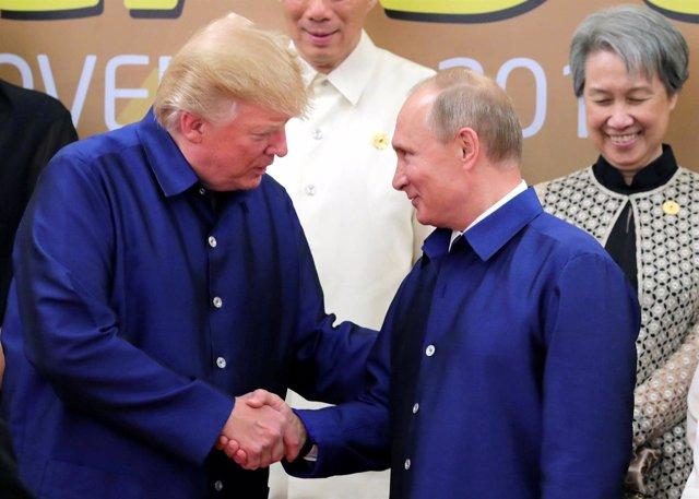 El presidente de EEUU, Donald Trump, y su homólogo ruso, Vladimir Putin.
