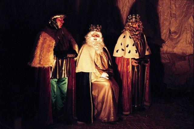 Imagen de los Reyes Magos en Higuera de la Sierra (Huelva).