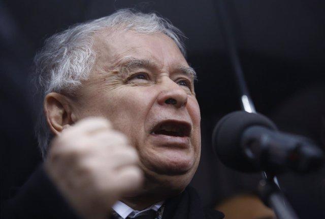 El líder del PiS, Jaroslaw Kaczynski