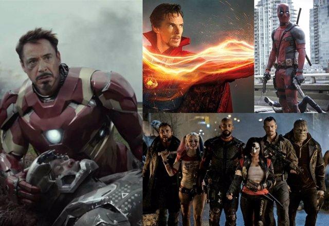 Las películas de superhéroes de 2016