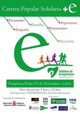 Cartel de la carrera solidaria del Teléfono de la Esperanza