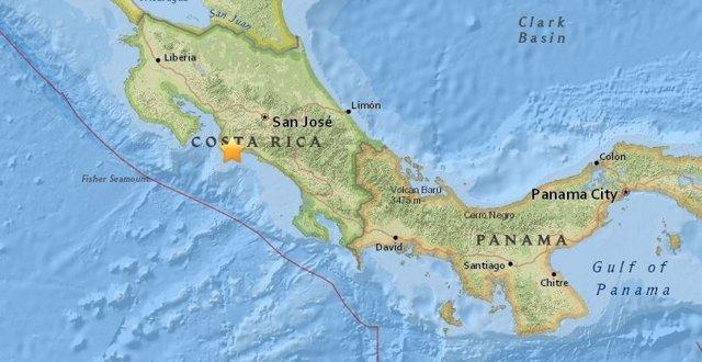 Terremoto de magnitud 6,4 al oeste de Costa Rica