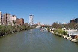 Imagen del río Pisuerga donde han rescatado el cadáver