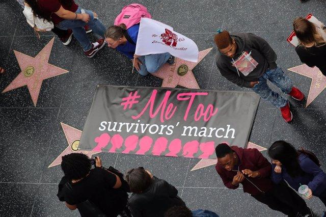 Manifestación contra el acoso sexual en Hollywood #MeToo