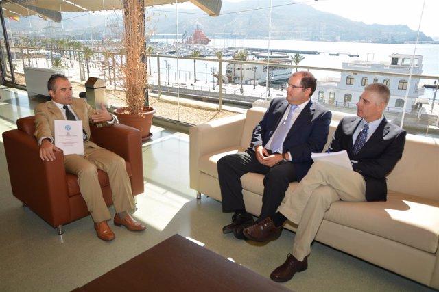 Eduardo Gómez, Carmelo Reverte y Juan Cegarra (de izquierda a derecha)