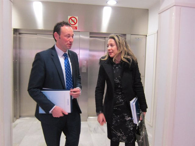 Guillermo Martínez y Edelmira Barreira, comisionada para el reto demográfico
