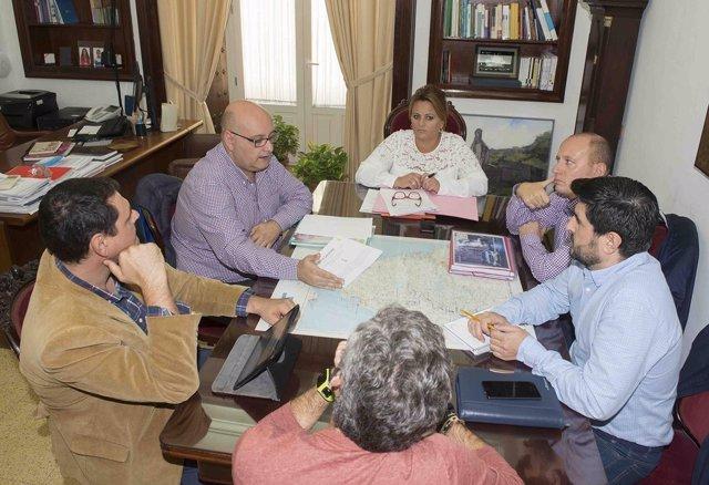 Reunión de Diputación de Cádiz con red Guadalinfo