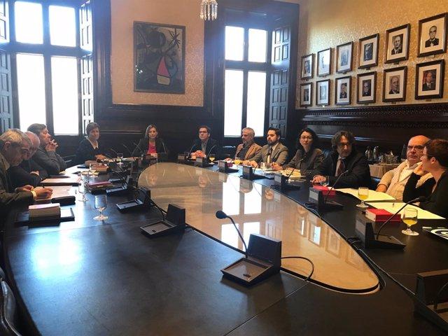 Reunión de la Diputación Permanente del Parlament