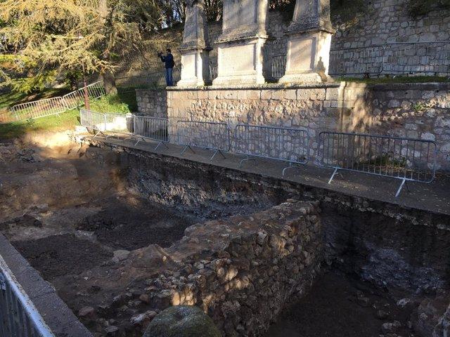 Escenario de las excavaciones arqueológicas.