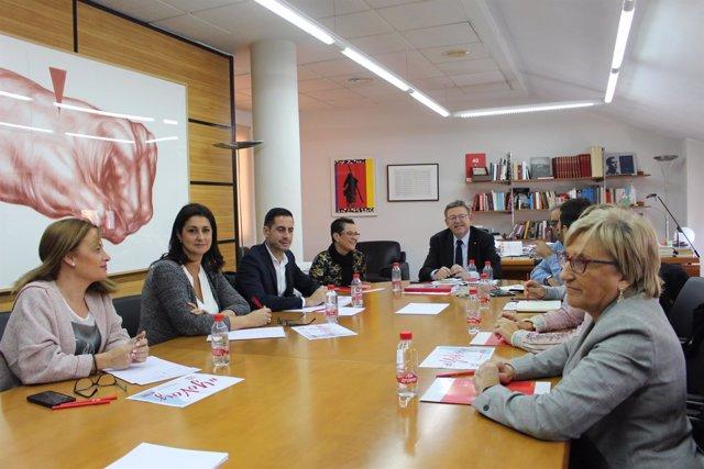 Puig preside la reunión de la Comisión Ejecutiva Nacional