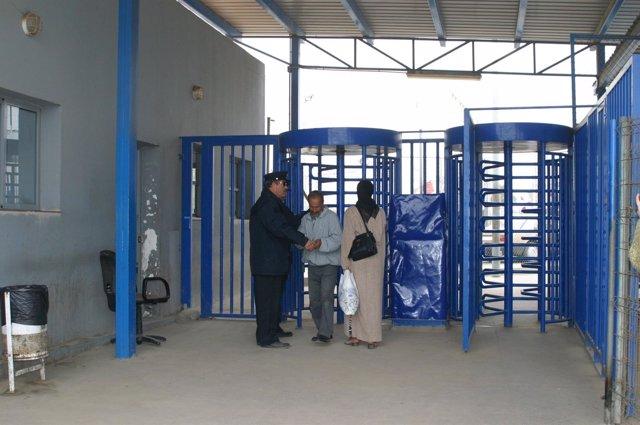 Puesto fronterizo de Farhana en Melilla