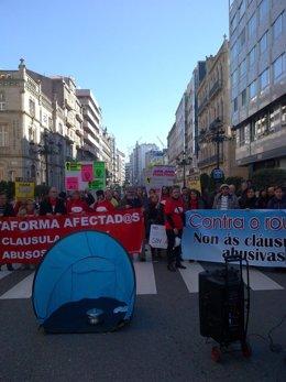 Cacerolada en Vigo contra las cláusulas suelo