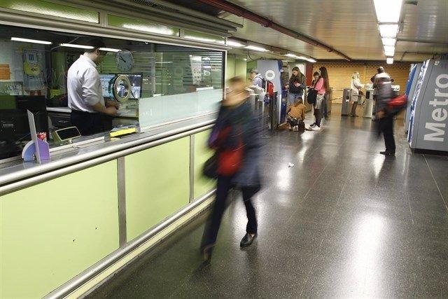 Imagen sobre estación de Metro