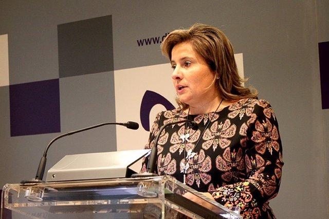 La vicepresidenta de la Diputación.