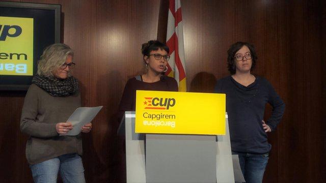 María José Lecha, Maria Rovira y Eulàlia Reguant (CUP)