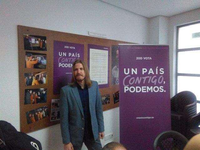 El portavoz de Podemos en las Cortes, Pablo Fernández