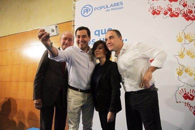 De la Torre, Juanma Moreno, Soraya Sáenz de Santamaría Elías Bendodo España une