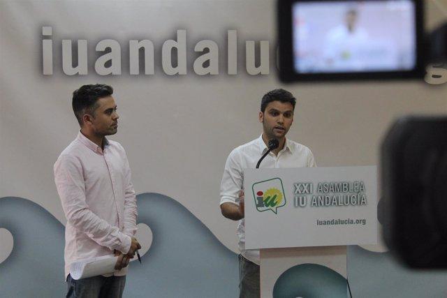 Los portavoces de IULV-CA, Pedro J. Ortega y Ángel de la Cruz