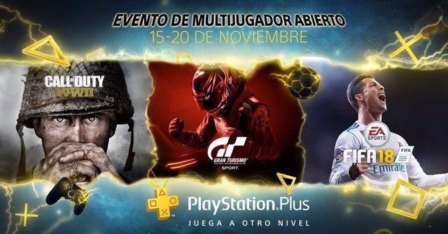 Evento de multijugador online gratuito
