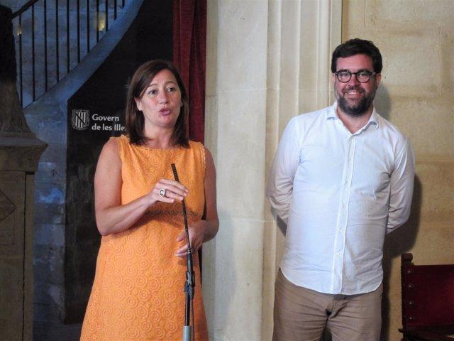 Francina Armengol y Antoni Noguera