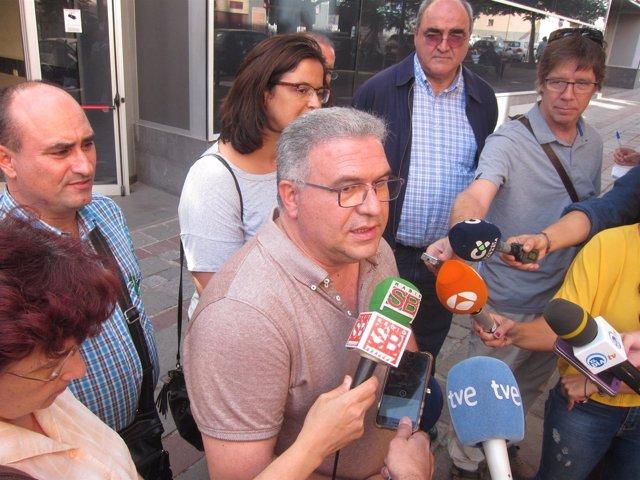 Barroso, con los periodistas