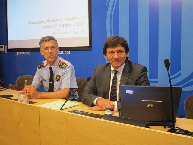 El comisario Miquel Esquius con el exdirector de Trànsit (ARCHIVO)