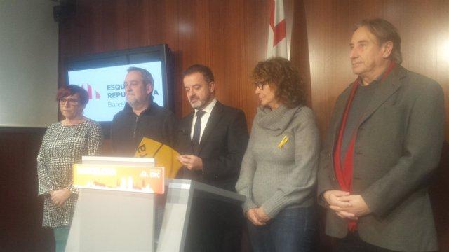 Los concejales de ERC de Barcelona