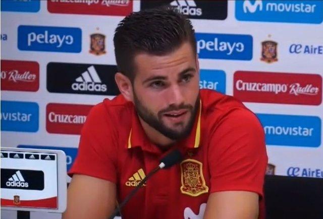 Nacho Fernández con la selección española