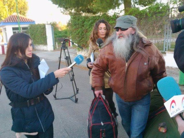 Valentín Tejero sale de Herrera de la Mancha