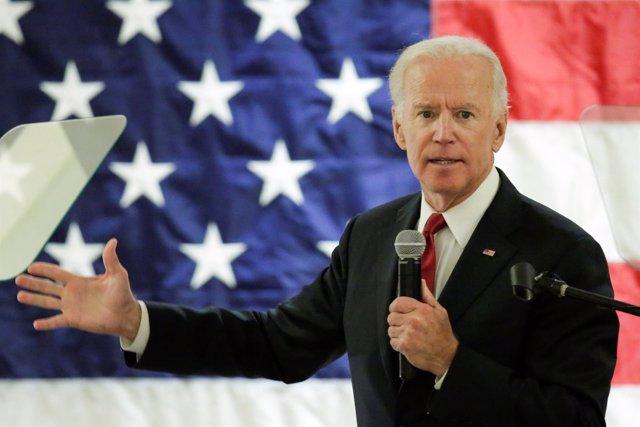 Joe Biden durante un mitin en Nueva Jersey (ARCHIVO)