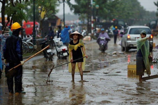 Tifón 'Damrey' en Vietnam