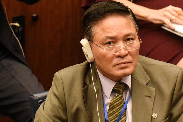 El embajador de Corea del Norte ante la ONU, Ja Song Nam (ARCHIVO)
