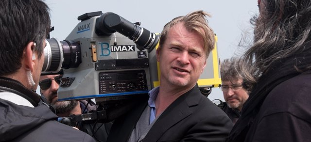 Chiristopher Nolan en el rodaje de Dunkerque